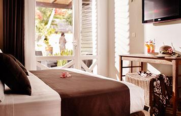Vue intérieure de la chambre Standard, ILOHA Seaview Hotel 3*, île de la Réunion