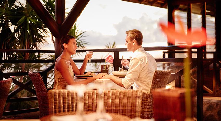 Dîner romantique, ILOHA Seaview Hotel 3*, île de la Réunion