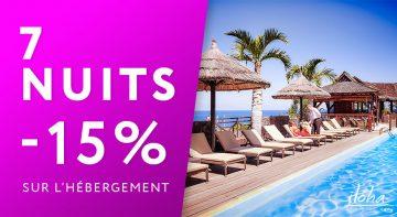 -15% sur l'hébergement pour tout séjour de 7 nuits minimum