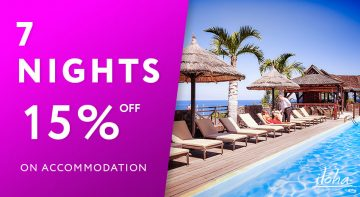 15% off your accommodation for 7 nights stay or more