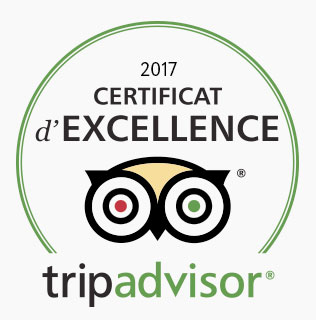 Cetificat d'excellence tripadvisor