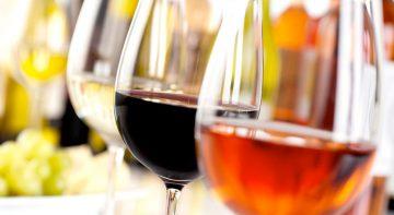 Verres de vins de différents cépages sud-africain
