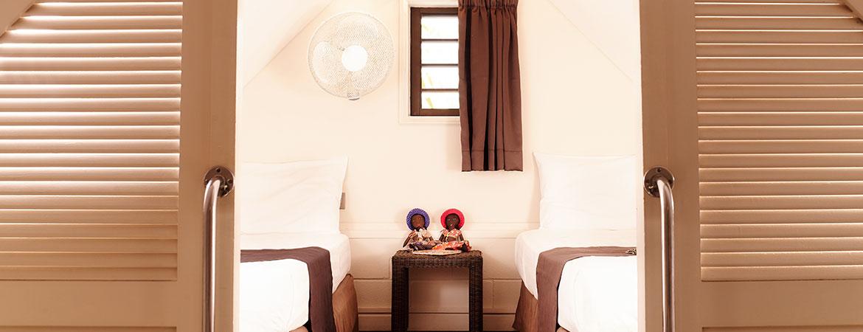 La chambre enfant du bungalow Famille, ILOHA Seaview Hotel 3*, île de la Réunion