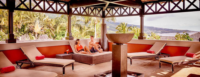Espace détente du Guétali, ILOHA Seaview Hotel 3*, île de la Réunion