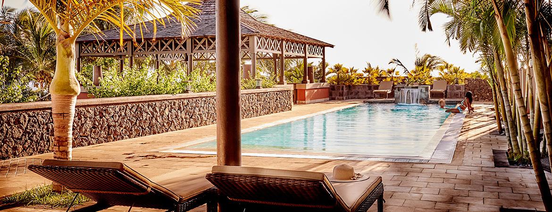 La piscine de l'espace Guétali, ILOHA Seaview Hotel 3*, île de la Réunion