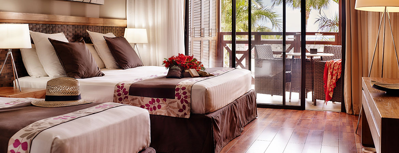 La chambre Guétali, ILOHA Seaview Hotel 3*, île de la Réunion