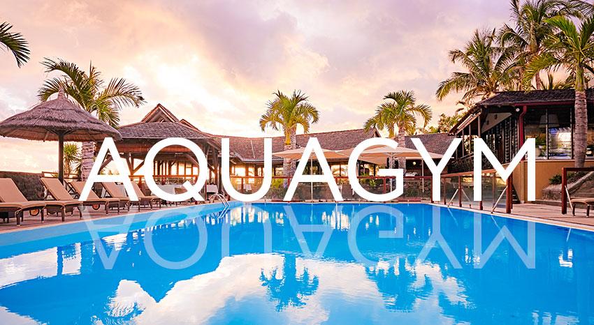 Aquagym lessons, ILOHA Seaview Hotel 3*, Reunion island