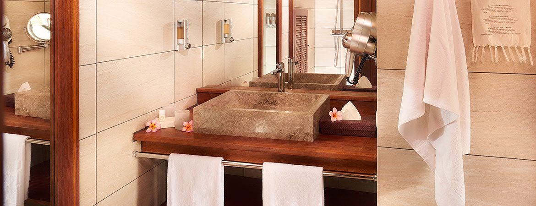 Salle de bain du Bungalow Tropique
