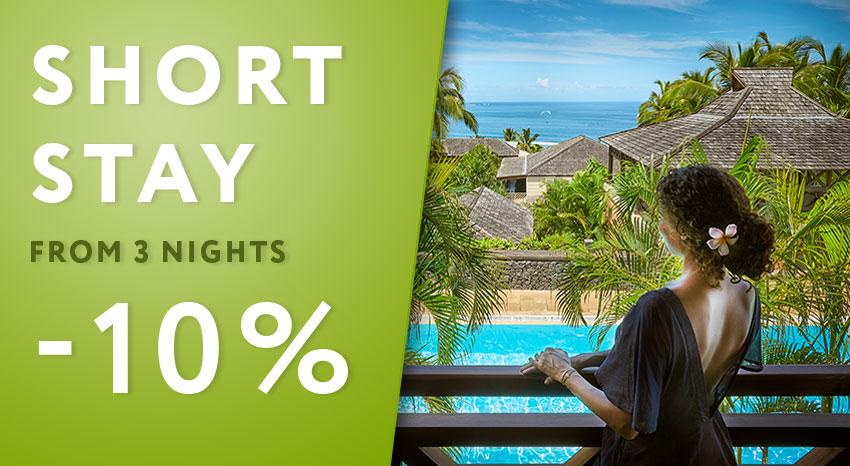 10% de remise pour un court séjour à Iloha